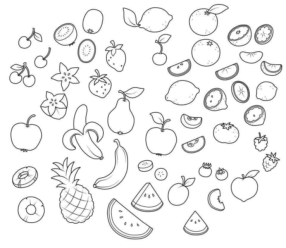 Шаблоны фруктов