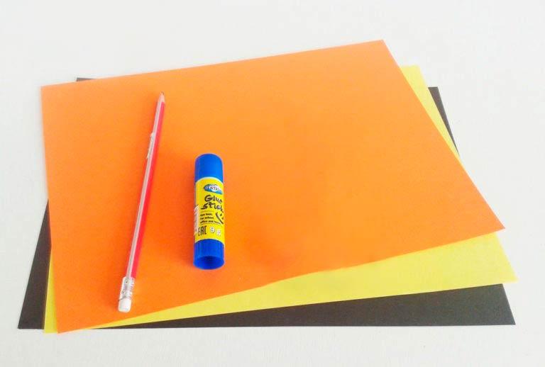 Бумага, клей, карандаш
