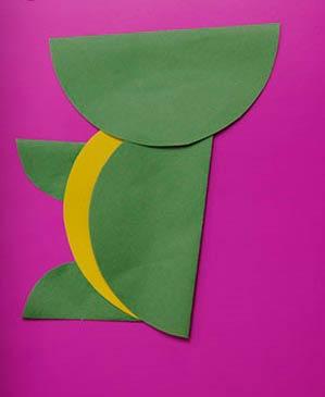 крокодил - поэтапная сборка из бумаги