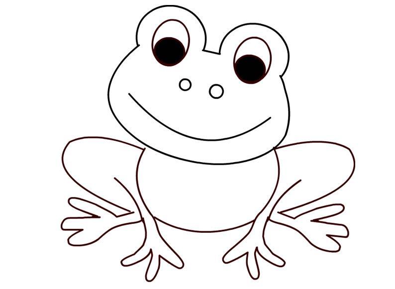 Лягушка раскраска, шаблоны
