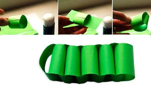 Крокодил из цветной бумаги