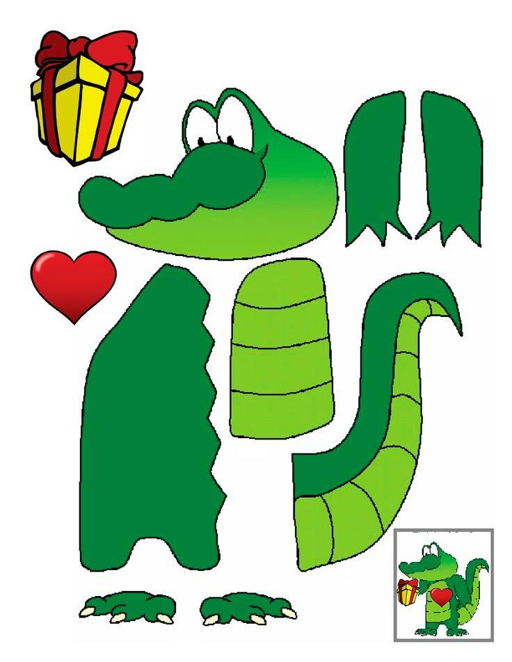 Заготовки для сборки - крокодил
