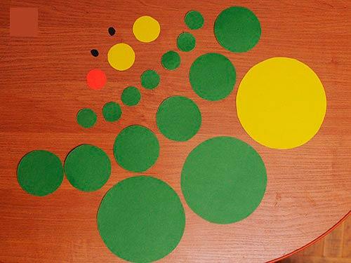 круги из цветной бумаги