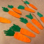 Морковь из бумаги