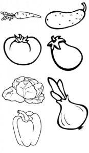 Шаблон овощей