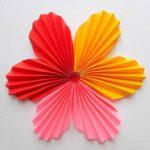Цветок гармошкой из бумаги