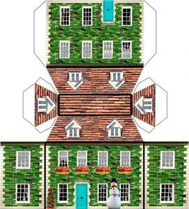макет дома для склейки