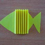 Рыбка из бумаги гармошкой