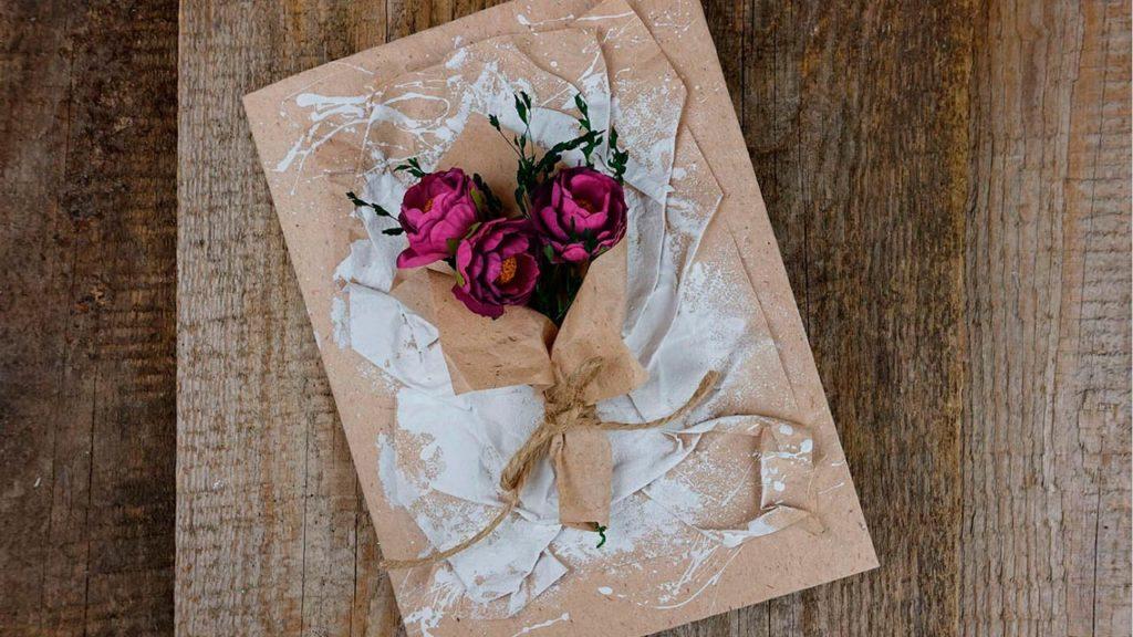 Открытка с розой