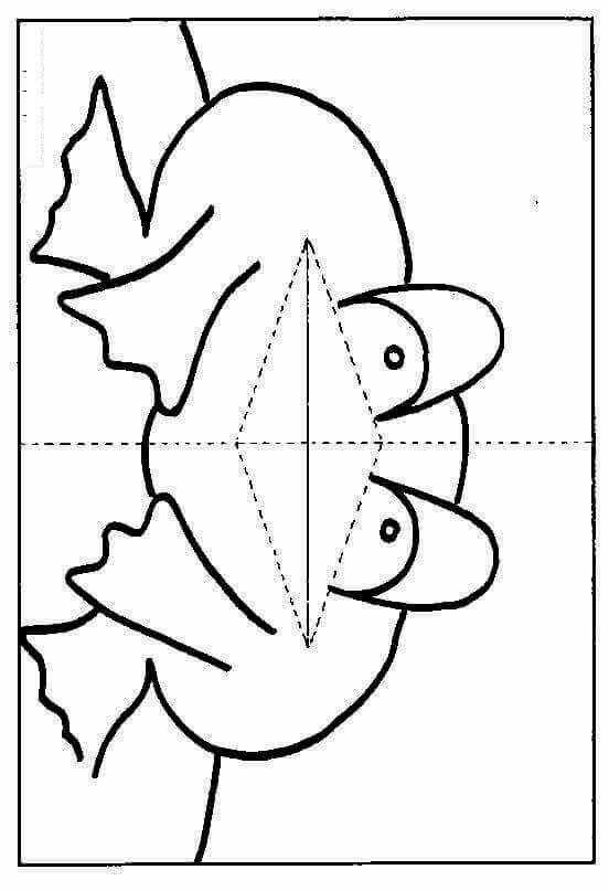 Лягушка киригами