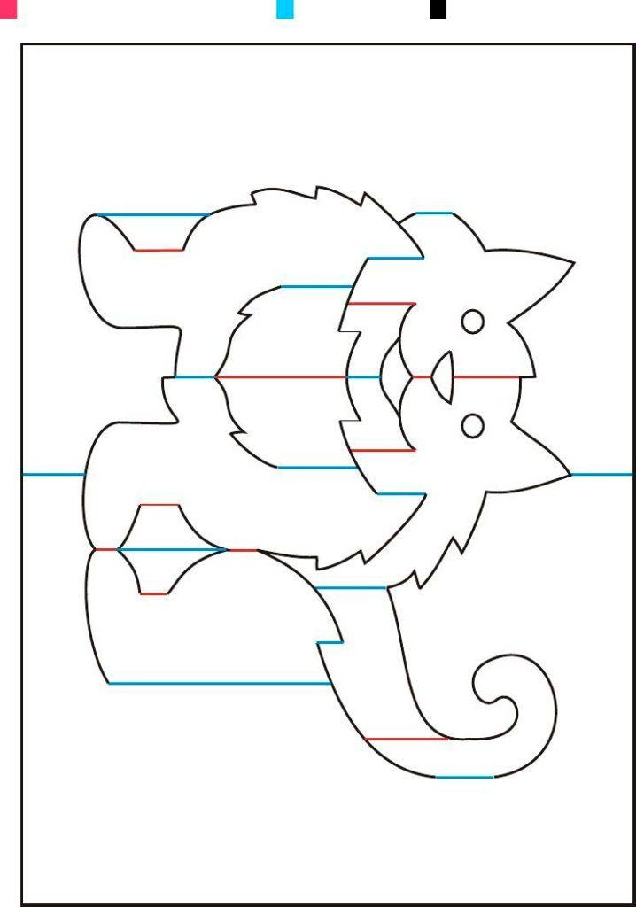Кошка киригами