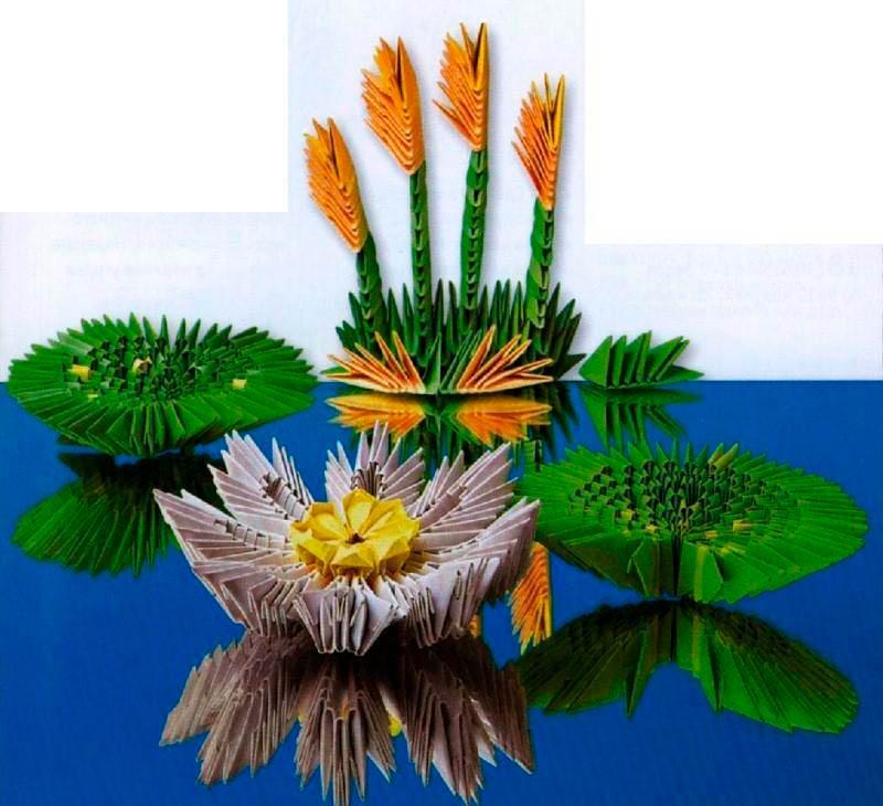 Модульное оригами лилии
