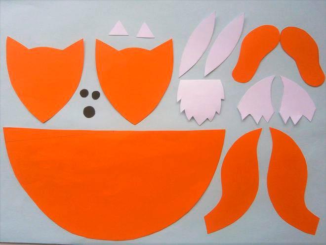 Шаблон для изготовления лисички