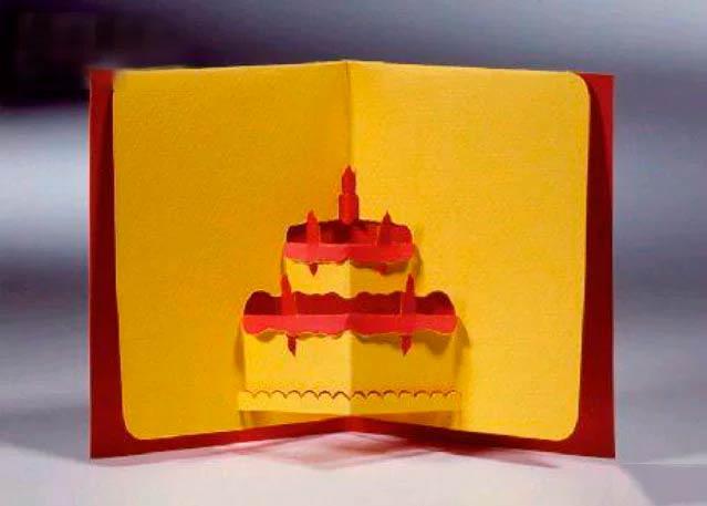 Торт киригами