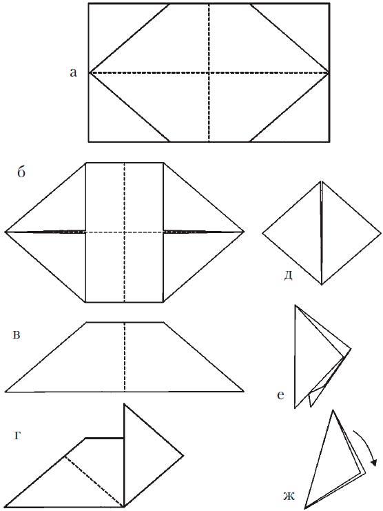Хлопушка из бумаги, схема