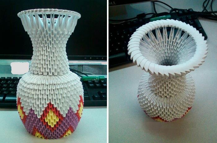 Модульное оригами вазы