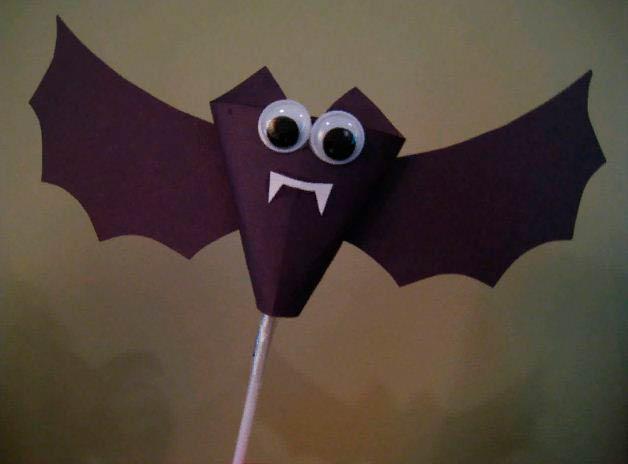 Летучая мышь из бумаги