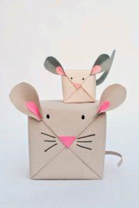 Подарочный пакет в виде мыши