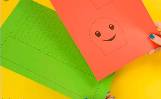 Гусеница из бумаги