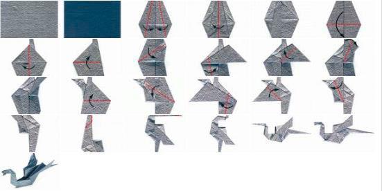 Дракон сидящий оригами