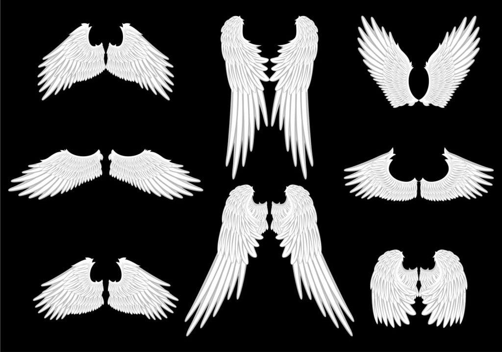Шаблоны крыльев ангела