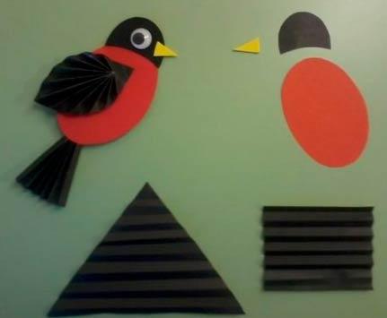 Птица гармошкой из бумаги