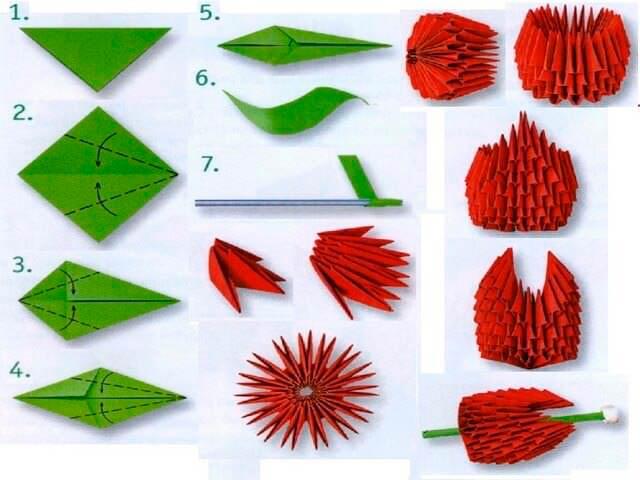 Модульное оригами цветов