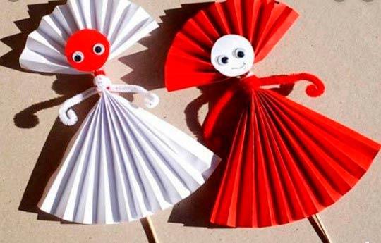 Куклы гармошкой из бумаги