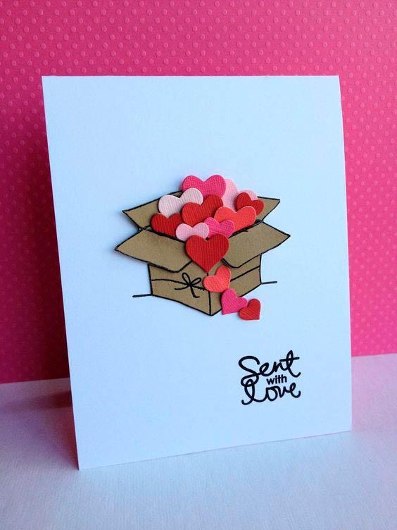 Как сделать маленькую открытку для подруги своими руками