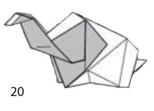 Бумажный слон поэтапно