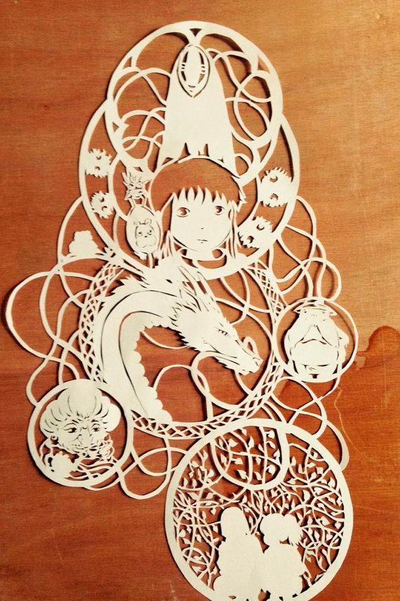 Аниме киригами