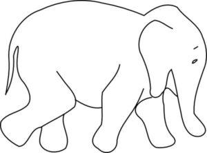 Бумажный слон шаблон