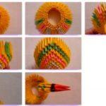 Модульное оригами павлина