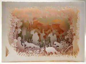 Картины киригами