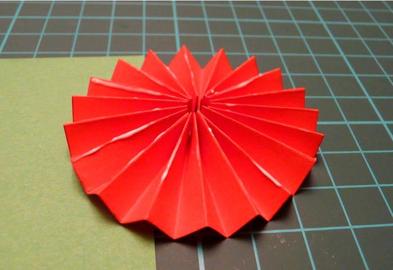 Цветок гармошка из бумаги