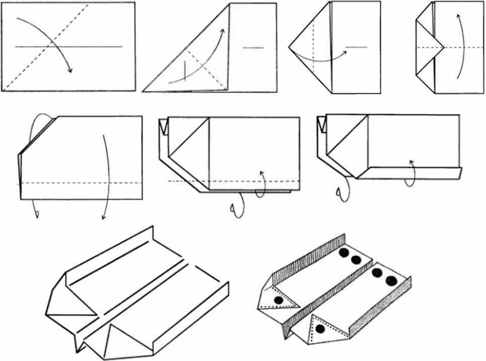Бумажный самолетик - схема