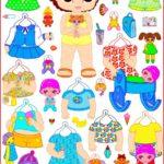 Бумажные наряды для куклы