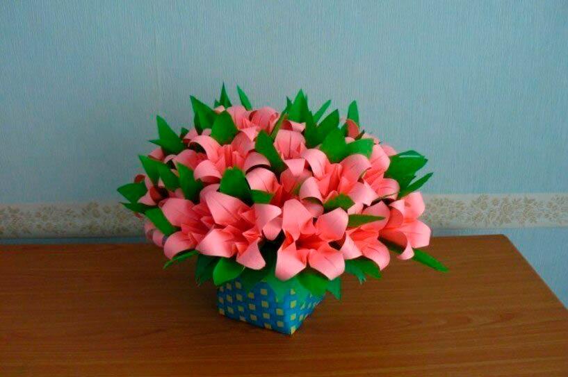 Лилии оригами