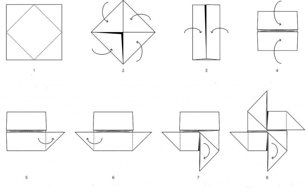 Вертушка из бумаги инструкция