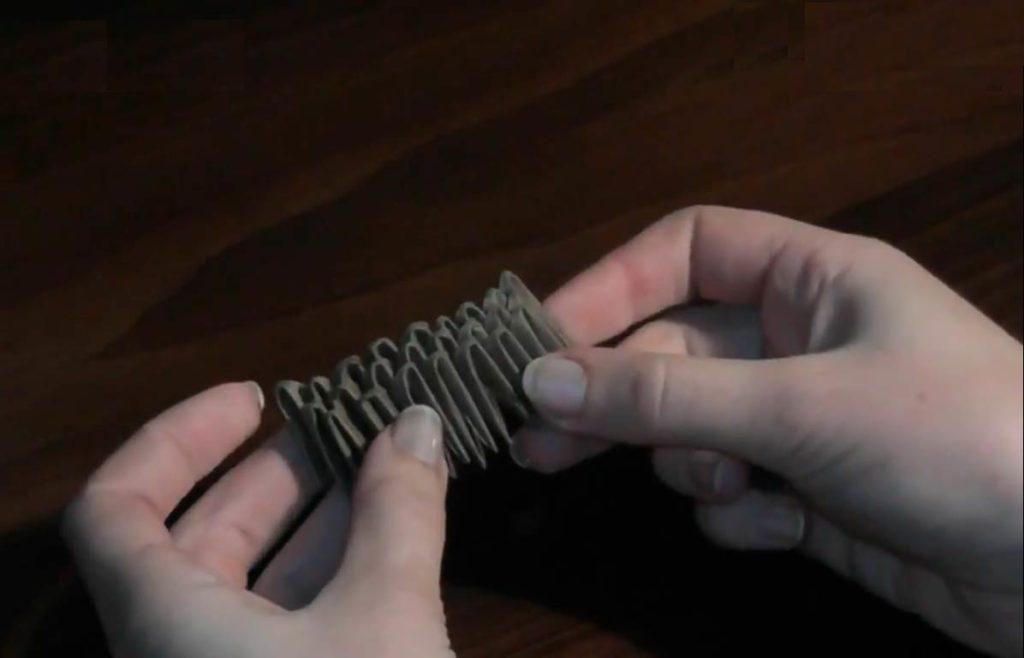 Ёжик модульный из бумаги