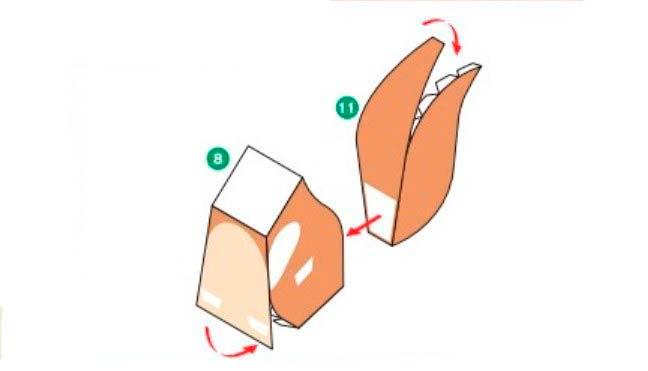 Белочка из бумаги