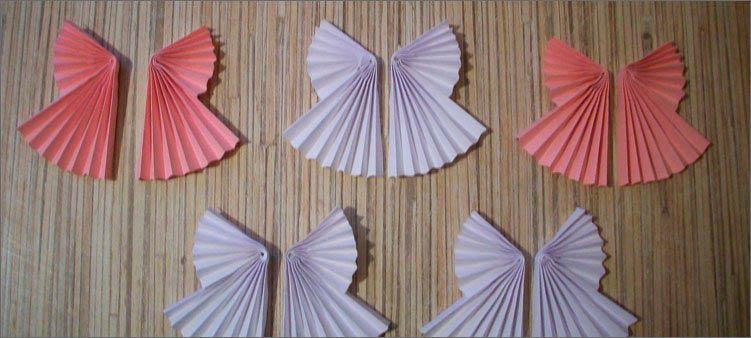 Крылышки выполненные в технике «оригами»