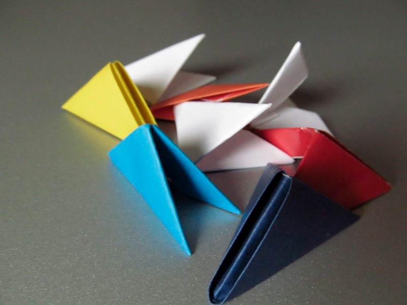 Сборка модулей из бумаги