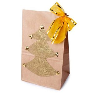 Бумажный пакет на новый год