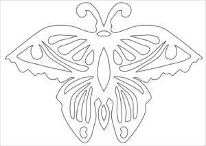 Бабочки киригами