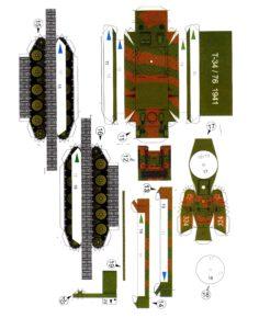 Танк т-34 шаблон