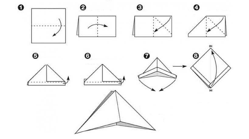 Схема сборки пиратской треуголки