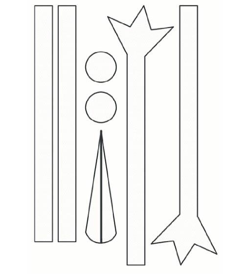 Шаблоны аиста для вырезания