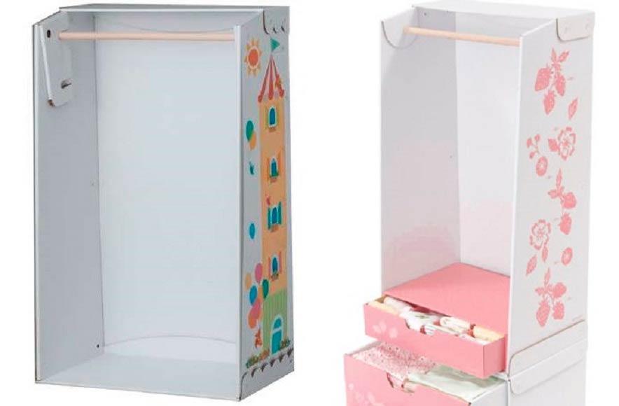 Шкаф из коробки из-под телефона