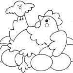 Шаблон курочки с цыпленком